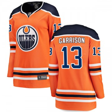Breakaway Fanatics Branded Women's Jason Garrison Edmonton Oilers Home Jersey - Orange